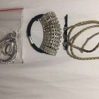 Hair band , bracelets and earrings
