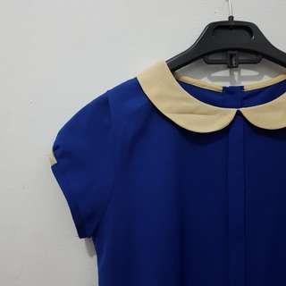 Collar kneck blue
