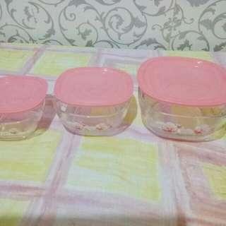 3 pcs Glassware from Avon