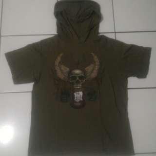 kaos hoodie tangan pendek ROCK SOUL bahan cotton