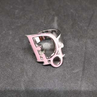 Christian Dior Logo Ring Pink