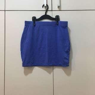 Factorie pencil skirt (blue)