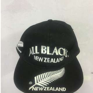 vintage all black cap