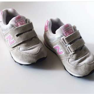 New balance kids pink and grey