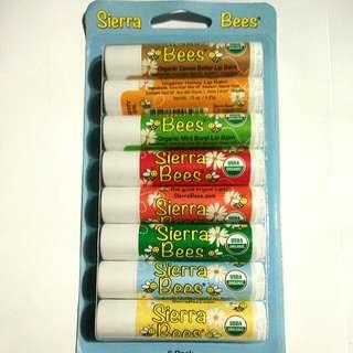 BNIW Sierra Bees 8 Organic Lip Balms
