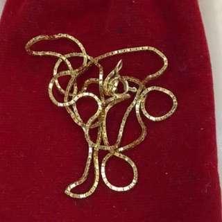 {Women's Jewelry - Gold Chain} 金是永恆 18K Beautiful Unisex Gold Chain