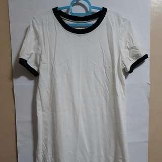 White Ringer Shirt Dress