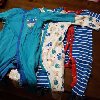 Mothercare Sleepsuits - 9 to 12 months