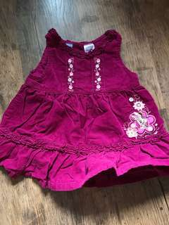 Minnie Mouse embroidery dress