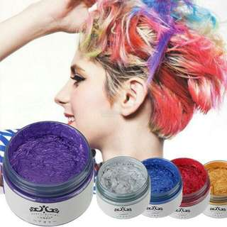 ⭐japan⭐Color Hair Wax⭐ Sliver Ash⭐Gold⭐White⭐Purple⭐Washable Hair Wax⭐ Temporary Color Hair Wax⭐No Damage Hair