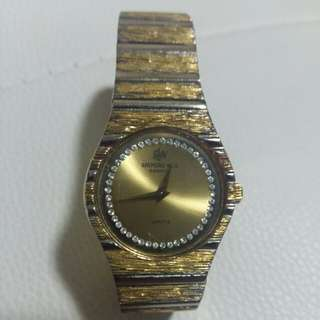 Raymond Well vintage 18k Gold woman watch
