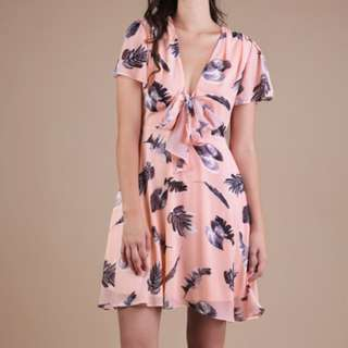 The Tinsel Rack (TTR) Tula Tie Front Dress (Tropical)