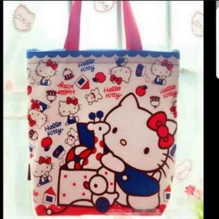 In stock hello kitty tote bag sholder bag casual bag size is 35 ×10 × 38cm