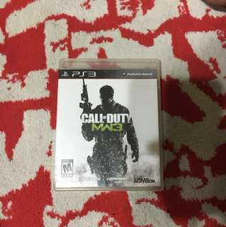 Call Of Duty MW3 PS3 game