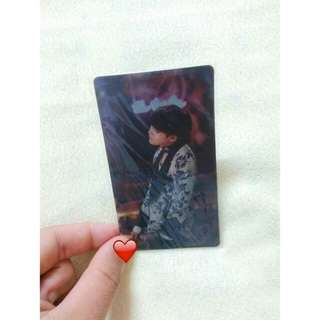 BTS SUGA OFFICIAL LENTICULAR PHOTOCARD