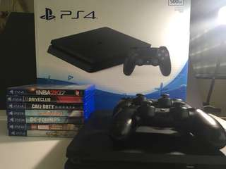 Playstation 4 500GB NBA 2k17 Bundle and free extra controller