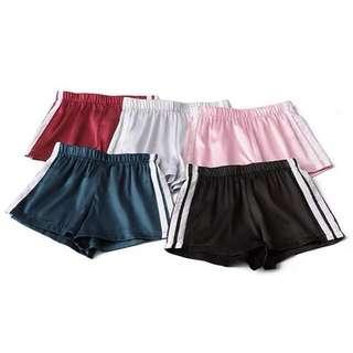 [PO] satin stripe lines runner shorts