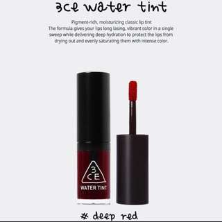 3CE Water Tint - Deep Red