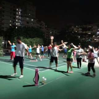 Outdoor Group Exercising