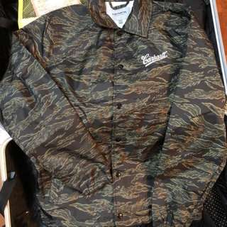 Carhartt 男裝迷彩coach jacket size XS double park 棒球褸 outer