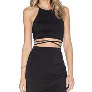 [PO] Kendall Jenner inspired wrap lace up crop top
