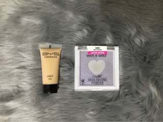 BYS concealer and wetNwild highlighter