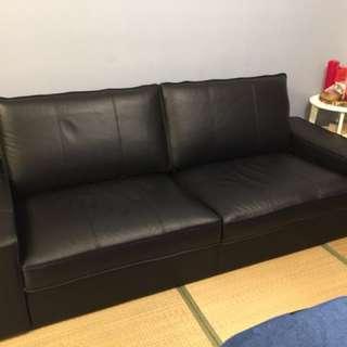 IKEA KIVIK牛皮沙發