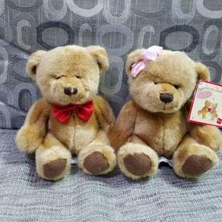 🆕 懷舊Russ Teddy Bear一對