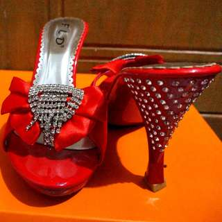 Fladeo Red diamond Heels size 36