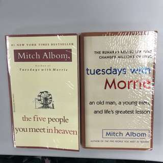 Mitch Albom Novels - Tuesday's with Morrie & Five People You Meet in Heaven