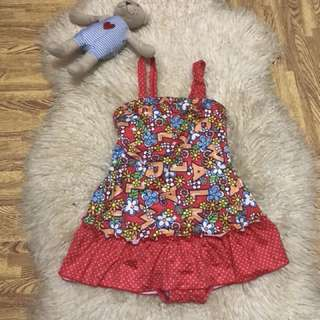 Swimsuit pwedi din pang dress,fits to 2-5 years old/direct contact #09956396640
