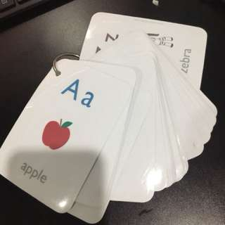 Pre-loved home-made alphabet flashcards