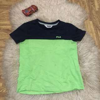 Authentic Fila shirt fits to 2-5 years old/direct contact# 09956396640