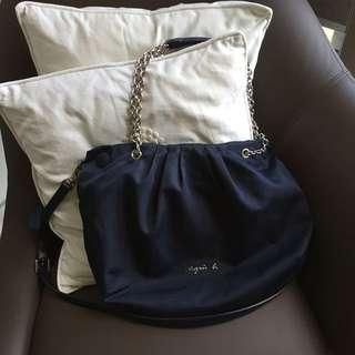 Agnes B Voyage Shoulder Bag with detachable Sling