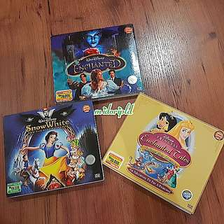 3 VCDs DISNEY PRINCESS