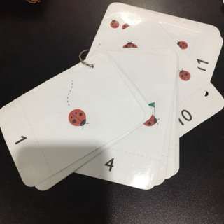 Pre-loved home-made numbers 1-20 flashcards