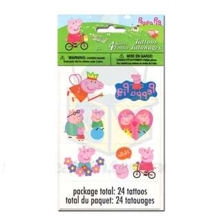 🌈 Peppa Pig Party Supplies - party temporary tattoos