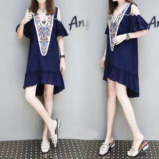 Blue Dress L-4XL