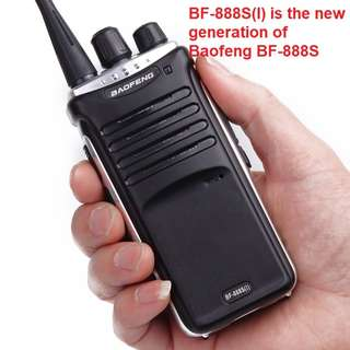New Generation Baofeng BF-888S(I) 5W Transceiver Walkie Talkie UHF: 400-470MHz Two Way Radio induding earpiece