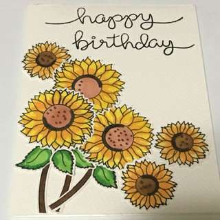 Big Sunflower card