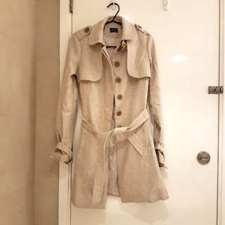 Bardot beige trench coat