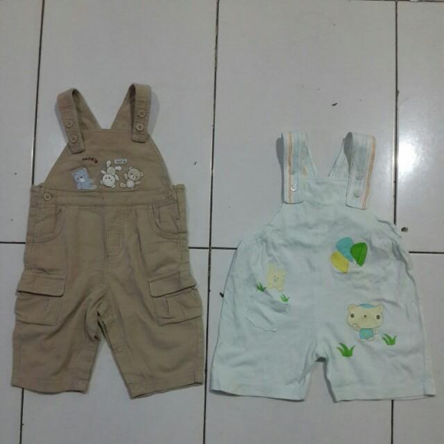 2pcs baju kodok anak 1th