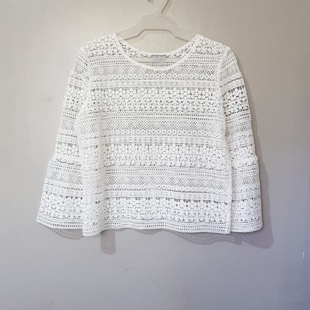 6ixty8ight white lace top