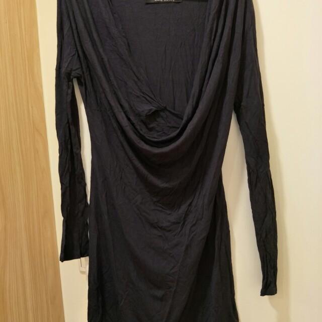 藏青色洋裝