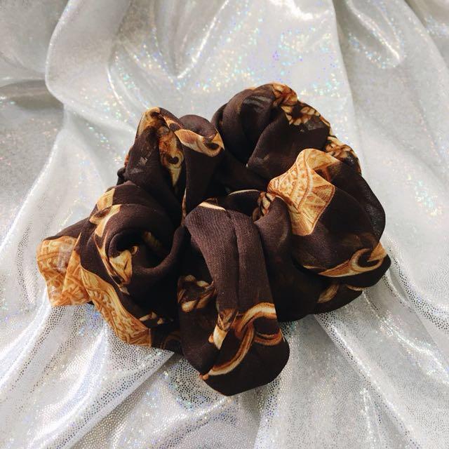 大腸圈 髮飾 髮束 髮圈 氣質款 咖啡色 質感 綁髮髮飾 深咖啡色