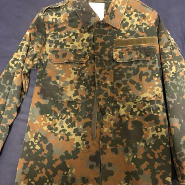 德軍襯衫 古著 軍裝 S號