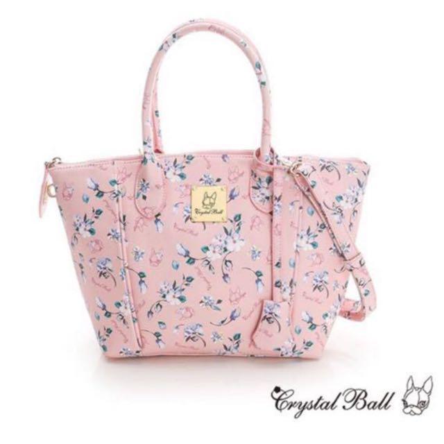 狗頭包 Crystal Ball 粉紅 花 系列(原價$3,280)