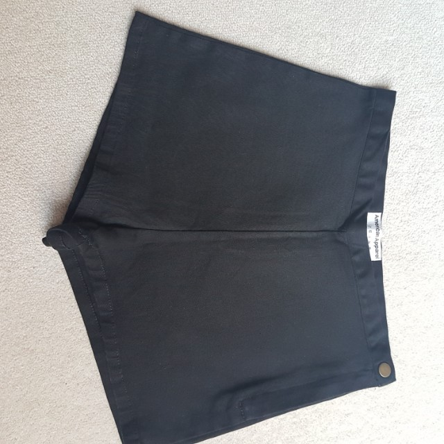 American Apparel High Waisted Black Shlrts
