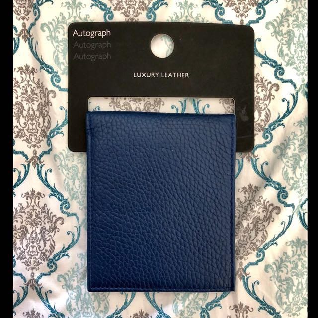 Authentic Marks & Spencer Bill Fold Wallet in Electric Blue