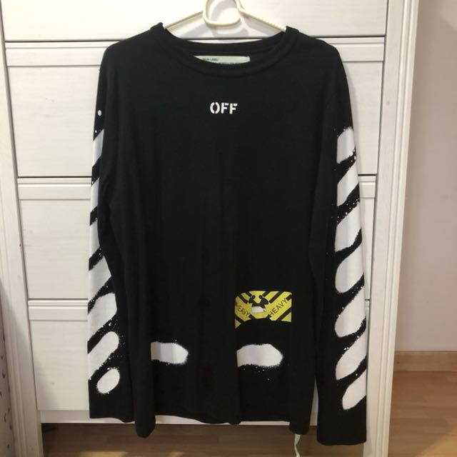 Authentic off white long sleeve T (size S)